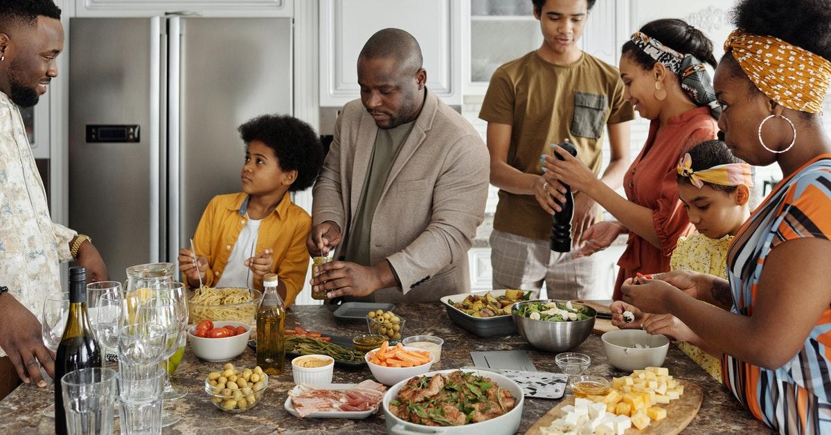 Family having dinner during the holidays