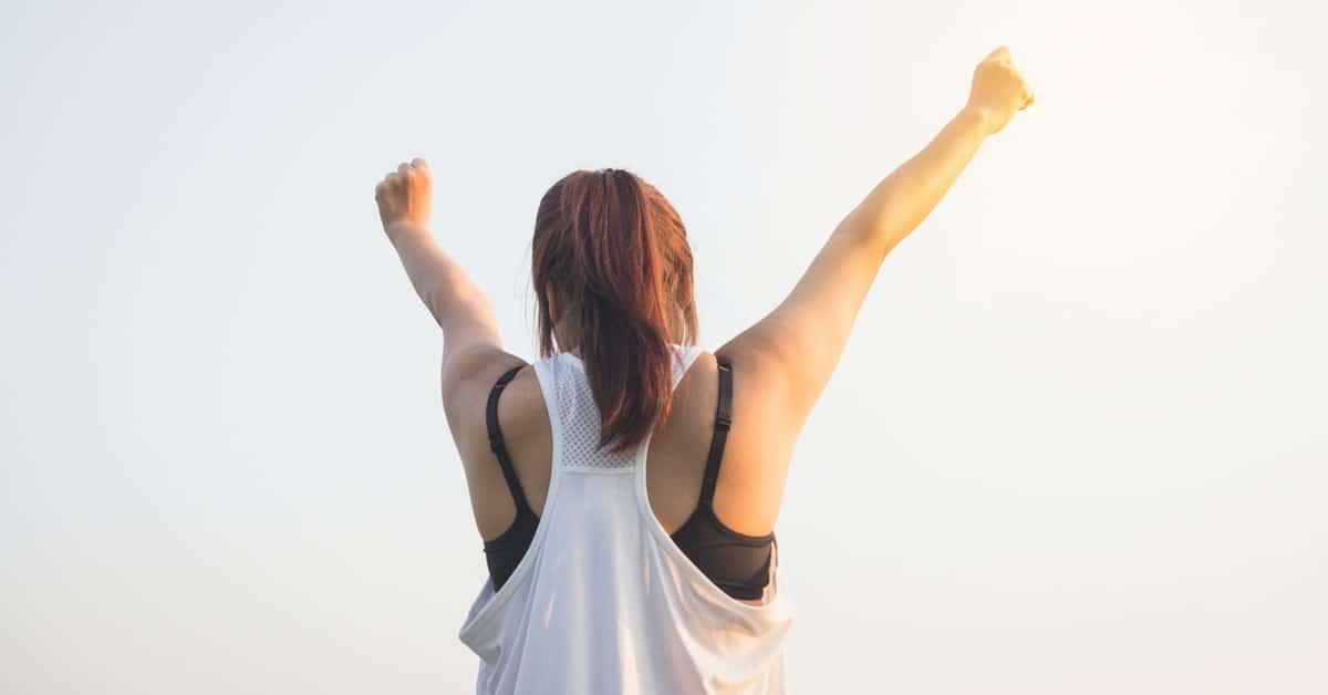 Girl feeling motivated